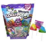 Unicorn Lolli-Poop Pops 60 Count