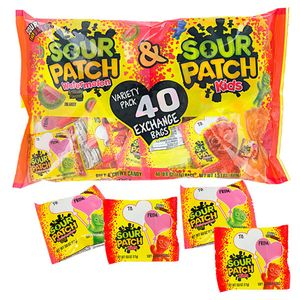 Valentine's Sour Patch Kids Assorted Fun Size 40 Count