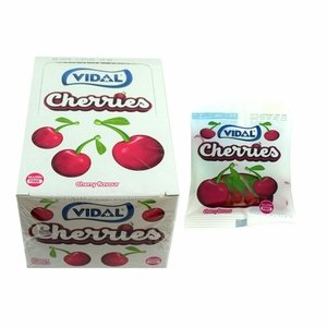 Vidal Gummi Cherries 24 Count