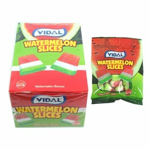 Vidal Gummi Watermelon Slices 24 Count
