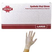 Vinyl Disposable Gloves Powder Free Large 100 Count