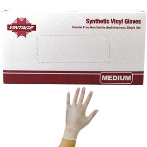 Vinyl Disposable Gloves Powder Free Medium 100 Count