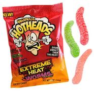 Warheads Hot Heads Worms 5oz Bag