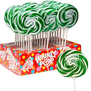 Whirly Pops Green & White 24 Count Adams & Brooks