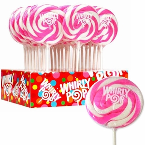 Whirly Pops Hot Pink & White 24 Count Adams & Brooks