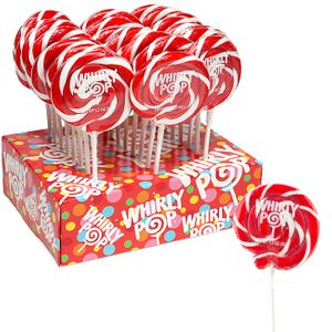 Whirly Pops Red & White 24 Count Adams & Brooks