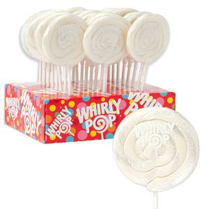 Whirly Pops White 24 Count Adams & Brooks