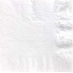 White Beverage Napkins 3 Ply - 50 Count