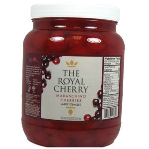 Whole Maraschino Cherries Topping 1/2 Gallon Jar