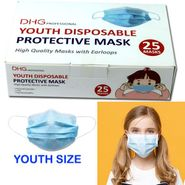 Youth Face Masks 25 Count Box - Disposable