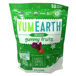 YumEarth Christmas Gummi Fruits 7oz Bag