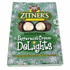 Zitner's Peppermint Cream Dark Chocolate Delights 8 Count