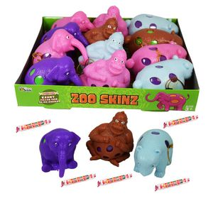 Zoo Animal Skinz With Smarties 12 Count