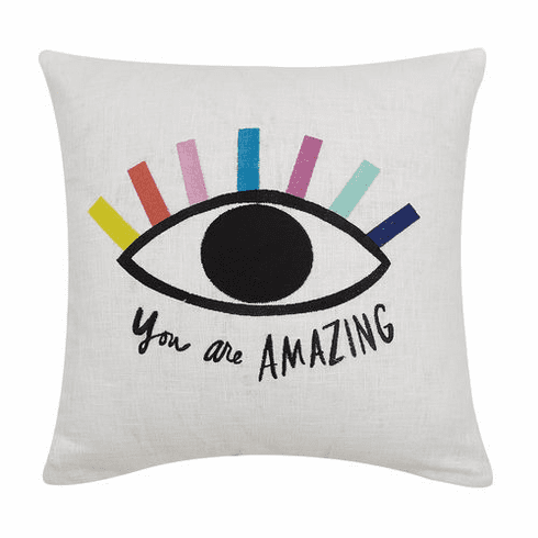 You Are Amazing Needlepoint Accent Pillow - Daily Affirmations Collection
