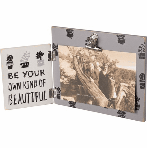 Be Your Own Kind of Beautiful Hinged Picture Frame