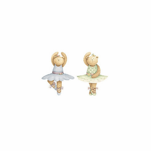 Ballerina Bears Wallies Wallpaper Cutouts