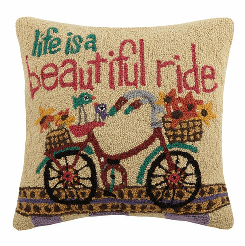 Life is a Beautiful Ride Decorative Pillow