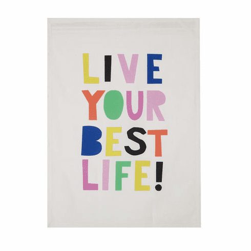 Live Your Best Life Kitchen Towel - Daily Affirmations Collection