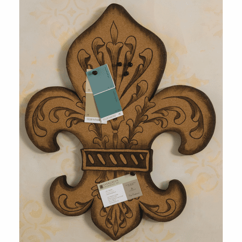 Cork Fleur De Lis Wall Decor with Tacks