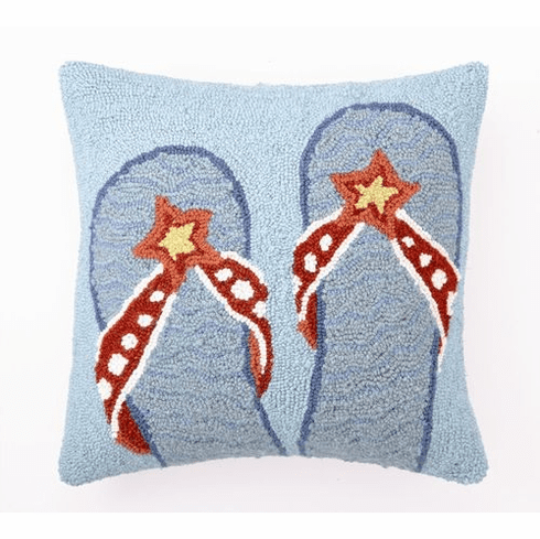 Decorative Flip Flops Throw Pillow