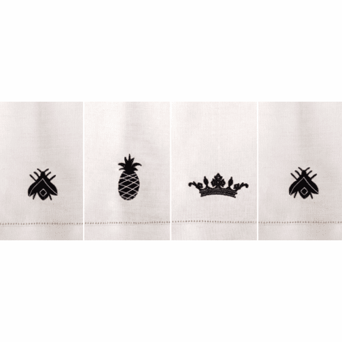 Embroidered Linen Guest Towels - Classic Hospitality