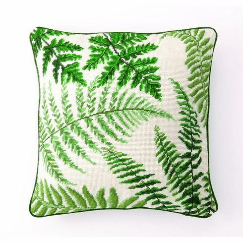 Fern I Needlepoint Pillow