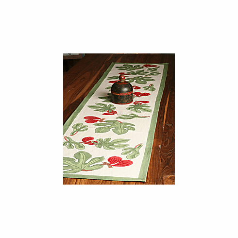 French Linen Table Runner - Fig Table Runner By Couleur Nature