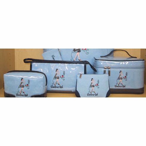 Glamour Girl Train Case  in Blue - The Girls