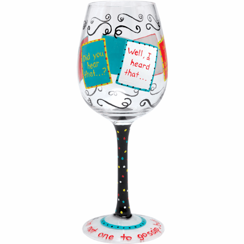 Lolita Gossip Hand-Painted Wine Glass