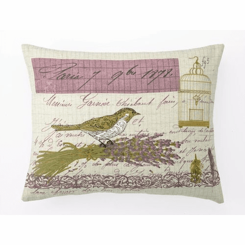 LETTRE DE PARIS Decorative Embroidered Accent Pillow