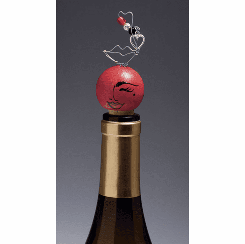Lolita Flirt Hand-Painted Wine Stopper RETIRED - ONE AVAILABLE