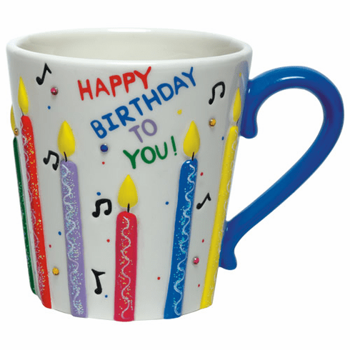 Lolita Hand-Painted Ceramic Mug - Happy Birthday Mug
