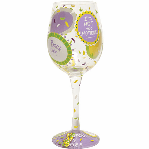 Lolita Hand-Painted Wine Glass PMS