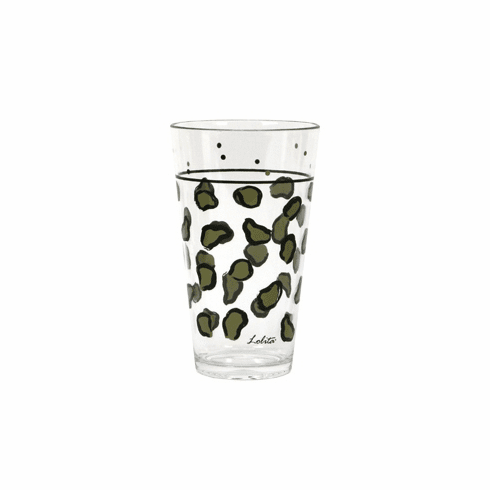 Lolita Leopard Hand-Painted Acrylic Tumblers - Set of Two