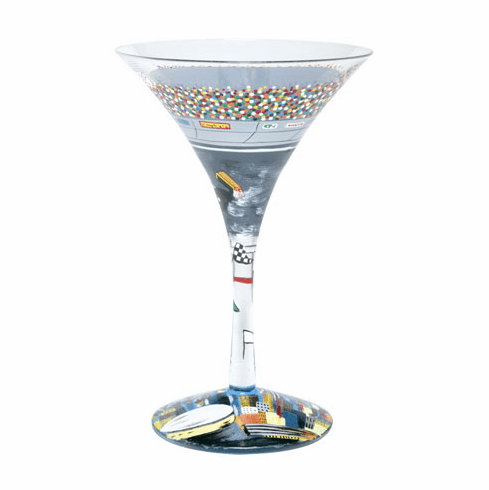 Lolita Martini Glass 2008 Design - Indy-tini RETIRED 2009  ONE AVAILABLE