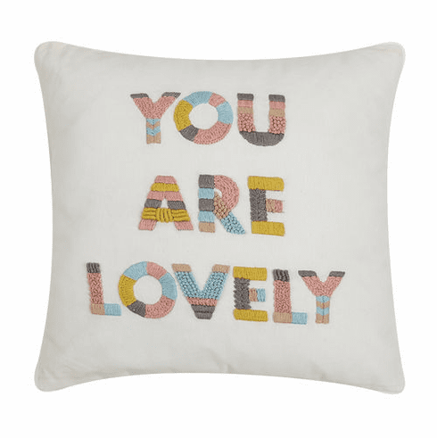 You Are Lovely Accent Pillow - Daily Affirmations Collection