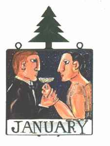 Nancy Thomas January Original Calendar - Toast