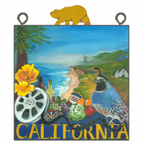 Nancy Thomas Metal Framed State Series- California