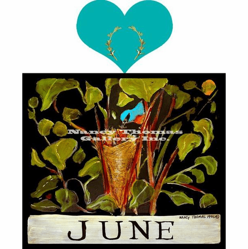 Nancy Thomas Original Calendar Series - June Nesting