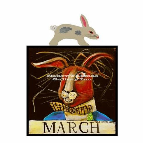 Nancy Thomas Original Calendar Series - March Hare