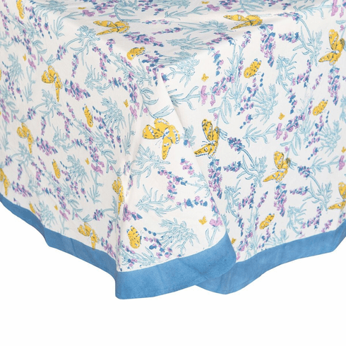 Papillon in Blue  French Linen Table Cloths
