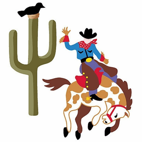 Ride'm Cowboy Wallies Wallpaper Cutouts