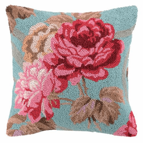 Roseland II Roses Hook Accent Pillow