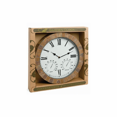 Slate Weather Station - Thermometer / Clock Combo