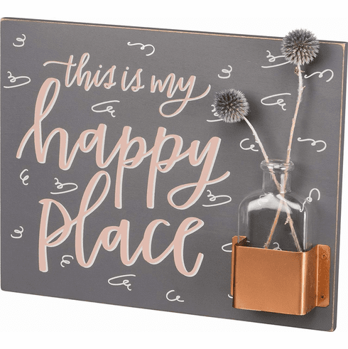 This is My Happy Place Wall Art/Vase