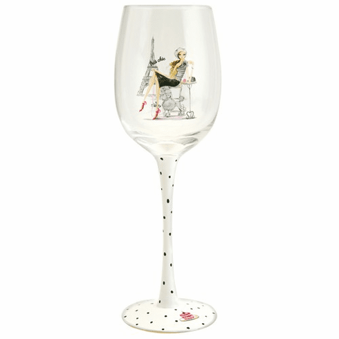 Tres Chic Wine Glass