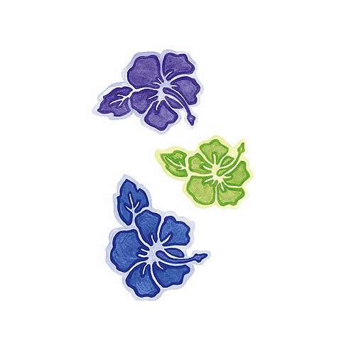 Tropical Flowers Wallies Wallpaper Cutouts