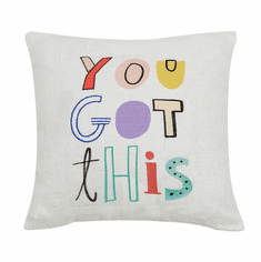 You Got This Needlepoint Accent Pillow - Daily Affirmations Collection