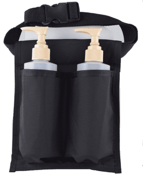 Double Holster Black w/two 8oz bottles and pumps