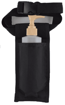 Single Holster Black w/8oz bottle and pump